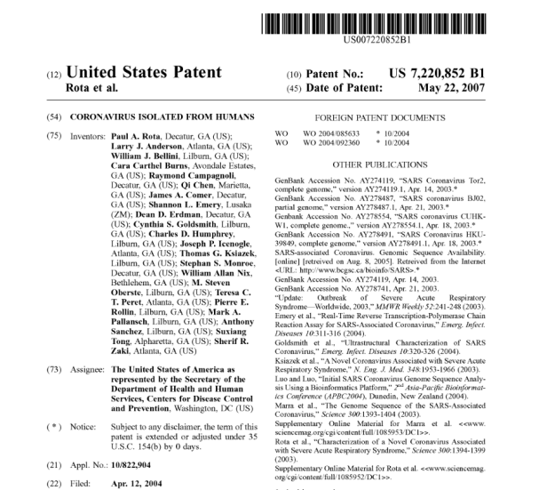 C.I.A.-PATENT-US7220852B1-–-CORONAVIRUS-AKA-SARS.png